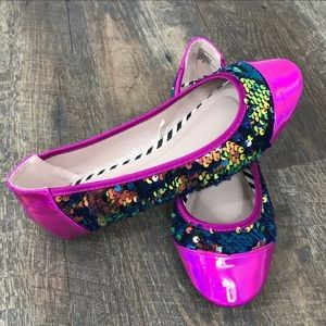 **Betsey Johnson Sunglow Sequin Sparkle Flats**